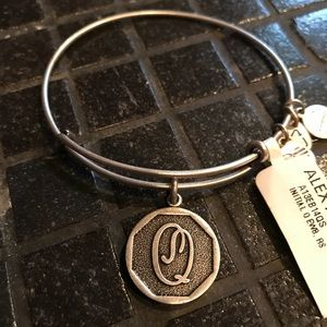 "Alex and Ani Bracelet- ""Q"" Initial Charm"